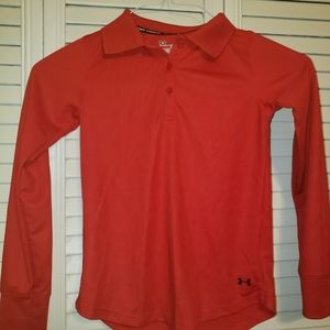 Under Armour red polyester shirt size youth small
